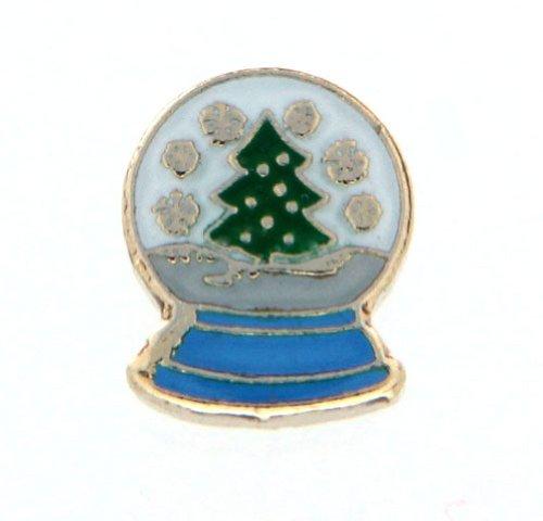 Snowglobe Charm (Christmas Snow Globe Floating Locket Charm)