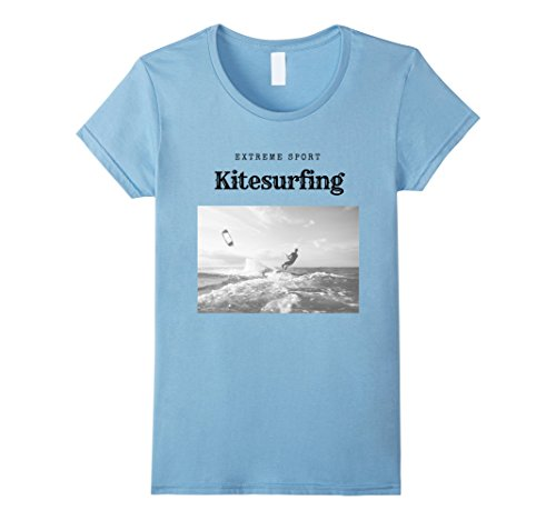 Extreme Water Sports (Womens Kitesurfing Extreme Water Sport T-shirt XL Baby Blue)