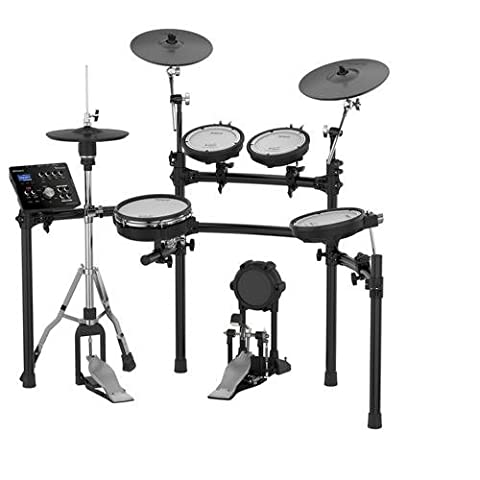 Roland TD-25K-S Electronic Drum Set Bundle with 3 Pairs of Sticks, Audio Cable, Polishing Cloth (Roland Electronic V Drums)