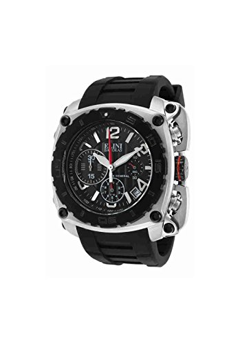 Elini Barokas Men's ELINI-20010-01-BB The General Analog Display Swiss Quartz Black Watch - Elini Black Chronograph