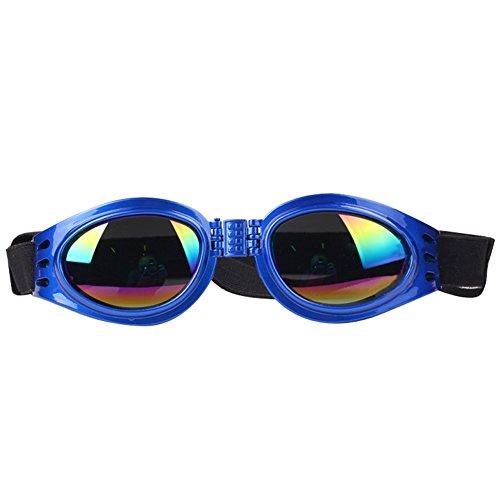 NACOCO Pet Glasses Dog Sunglasses Dog Glasses Golden Retriever Samoyed Sunglasses Goggles Big Dog Sunglasses (Blue) from NACOCO
