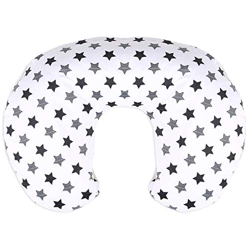 BORITAR Nursing Pillow Slipcover Minky for Boys and Girls, Super Soft Classic Nursing Pillow Cover with Little Stars Printed and Dotted Backing