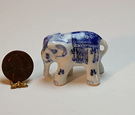 African Elephants Miniature  Dollhouse Picture