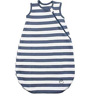 Ecolino Organic Cotton Baby Sleep Bag or Sack, Baby Wearable Blanket, 6-18 Mo, Deep Blue