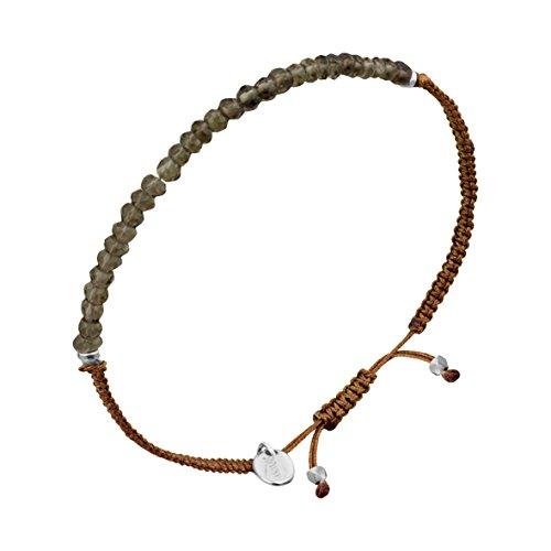 Canyon - Bracelet cordon - Argent 925 - Quartz - 6.5 cm - Réglable - B4858