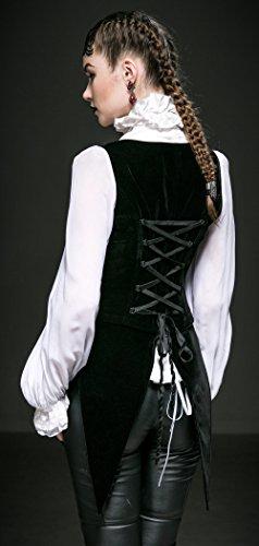 Cazadora, diseño de cola de pie extraíble elegante diseño gótico Y-539 Punk Rave negro