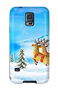 New Santa Merry Christmas Tpu Skin Case Compatible With Galaxy S5
