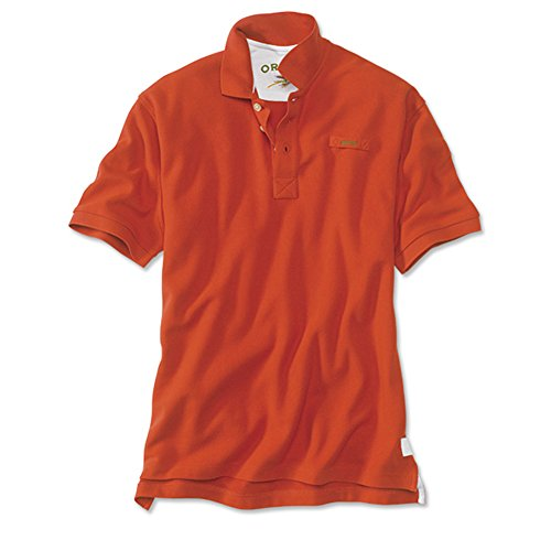 Men's The Orvis Signature Polo / Tall, Red Clay, X Large