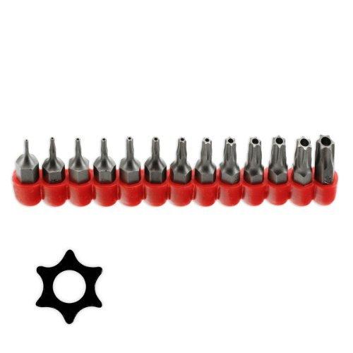 - Pro-Grade 13pc Tamper Proof Torx Star Bit Set T-4 To T-40 - Taiwan by Pro Tools