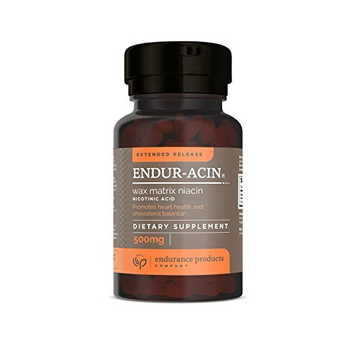 Endur-Acin 500 mg Low-Flushing Extended Release Niacin 200 Tabs, (Packaging May Vary)