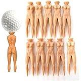 Demarkt 10pcs Naked Lady Nude Golf Tees