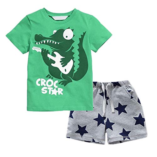 BIBNice Kids Boys Clothes Summer Outfits Sets Cotton Playwear Set Squirrel 2t