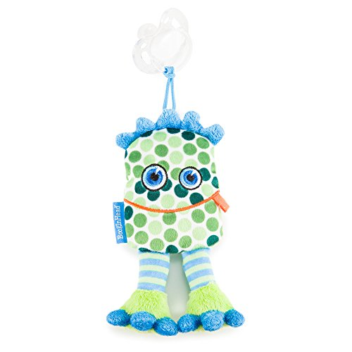 orn, PaciPal Pacifier Clip, Holder, Toy, Teether, Soothie, Universal Loop Hopper, Boy, Girl, Plush, Lovey, Polka Dots, Green ()