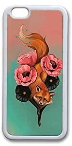 iPhone 6 Plus Cases, Fox Tattoo01 Custom Protective Soft Rubber TPU White Edge Case Cover for New iPhone 6 Plus 5.5 inch hjbrhga1544
