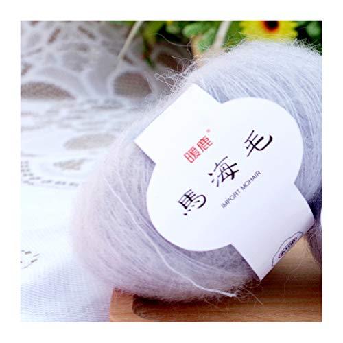 Soft Mohair Cashmere Wool Knitting Yarn DIY Shawl Scarf Crochet Thread Supplies