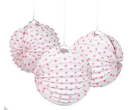 6-Candy-Pink-and-White-Polka-Dot-Paper-Lanterns