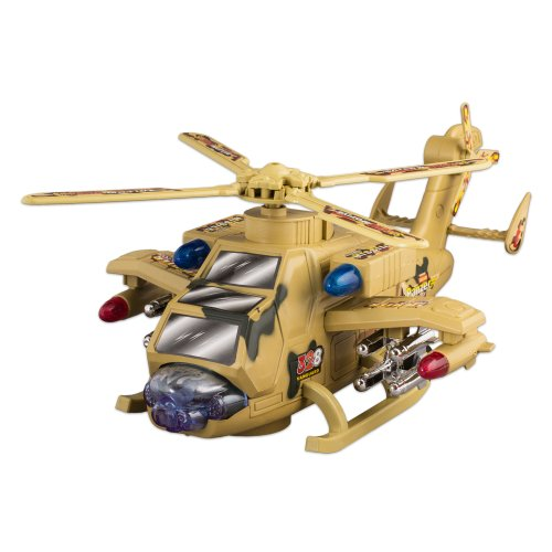High-Tech Battle Toy Fight Military Helicopter with Lights and Sound