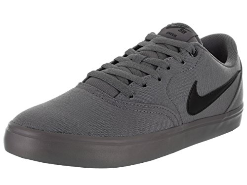 NIKE Men's SB Check Solar Cnvs Dark Grey/Black Skate Shoe 10 Men (Mens Nike Sb)