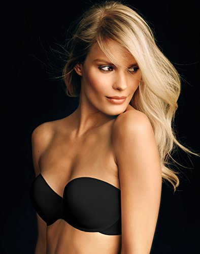 picture of Maidenform Women's Smooth Strapless Extra Coverage, Black, 34D