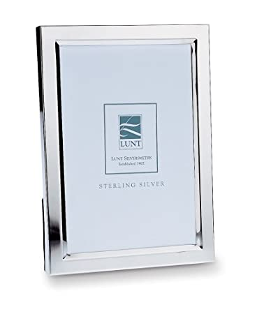 lunt bevelled sterling silver 5 by 7 inch picture frame