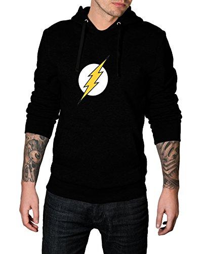 Flash Costume Cosplay (Mens The Flash Logo Costume for Halloween 2017 - Cosplay Hoodie | Black, M)