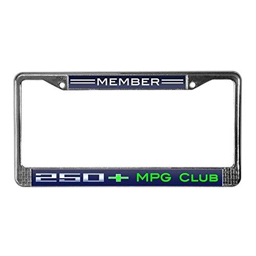 Jesspad Chevy Volt 250+ MPG Club Member - Chrome License Plate Frame, License Tag Holder,Auto Frame Cover Grill -