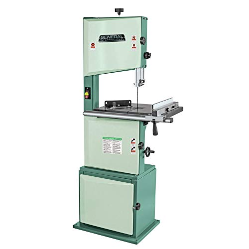 General International 90-120 M1 Wood-Cutting Band Saw, 14', 1 HP Motor, Green