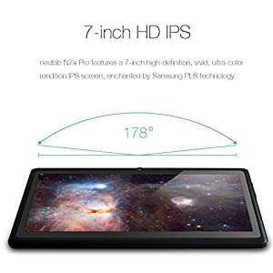 NeuTab 7 inch Quad Core Android 5.1 Lollipop Tablet PC, 1GB RAM 8GB Nand Flash, Wide View IPS Display 1280x800 Bluetooth Dual Camera FCC Certified (2017 Upgraded Edition)