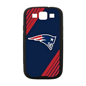Blue Background New England Patriots Simple Stylish Design Samsung Galaxy S3 I900 Case Cover (Laser Technology)