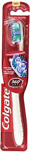Colgate 360 Optic White Whitening Toothbrush, Soft
