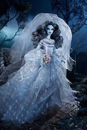 (Barbie Haunted Beauty Zombie Bride Gold Label Doll)