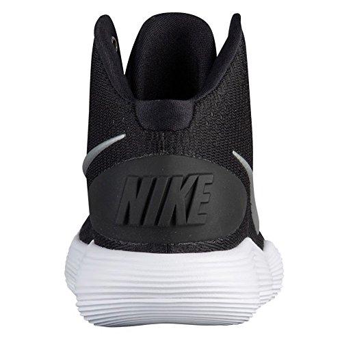Nike Wmns Hyperdunk 2017 Tb Donna 897813-001 Nero / Argento Metallizzato-bianco