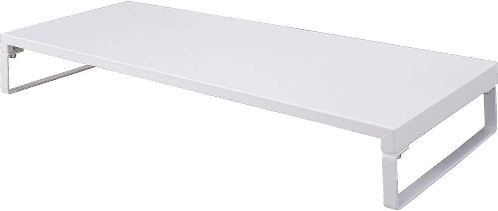 LIHIT LAB Desktop Stand, 9.8 x 23.2 x 3.1 inches, White (A7332-0)