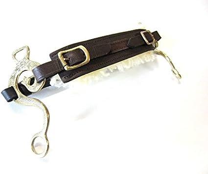 PS Pferdeartikel Set Hackamore Barock Gold Echt Schaffell messingfarben