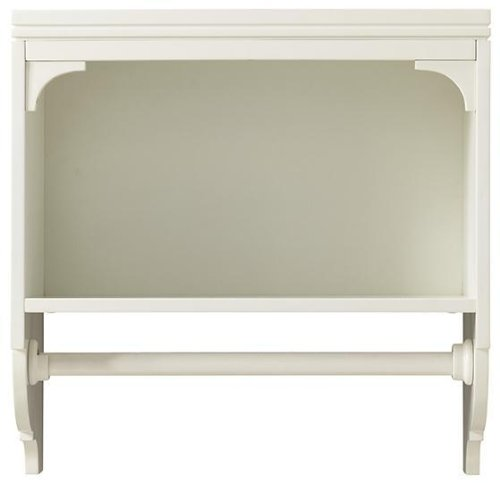 Martha Stewart Living Laundry Storage 24 in. H x 27 in. W Wall-Mounted Shelf with Clothing Rod in Picket Fence