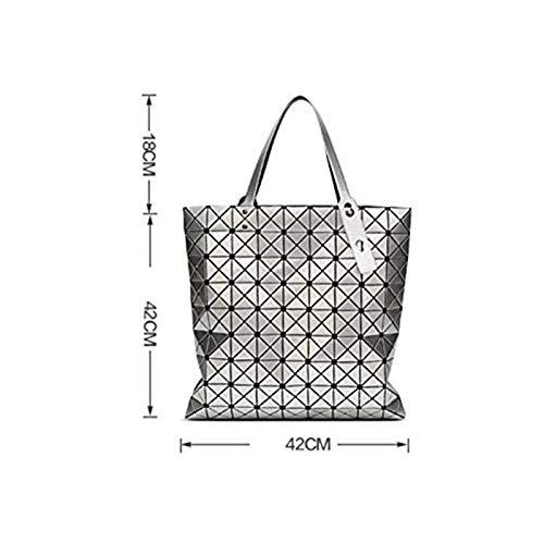 Bag Shopping Pvc Geometrica Borsa Red Coreano colore Grande Signore Silver Nuova Moda A Vnlig Tracolla Rombico Pacchetto q71f1Rw