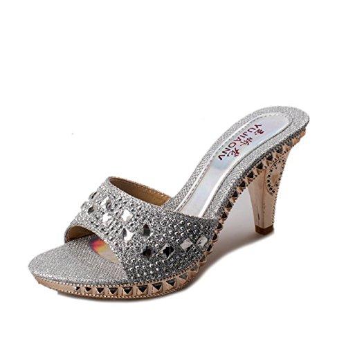 Donyyyy Impermeabilización de sandalias, sandalias, tacones altos y cool zapatillas Thirty-eight