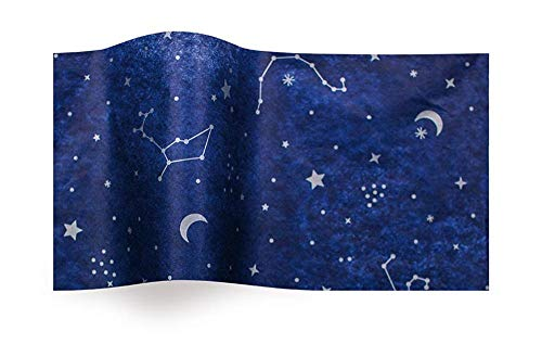 (Boutique Printed Tissue Paper for Gift Wrapping with Starry Night Constellations, Decorative Tissue Paper - 20 Large Sheets, 20x30)