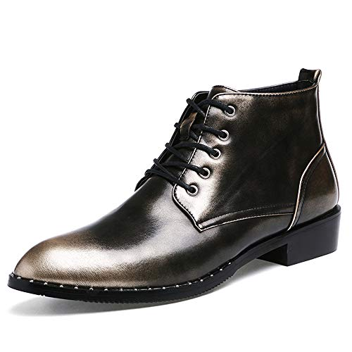 40 Business Silver Pelle EU scarpe Vintage a Silver New Scarpe Xiaojuan Dimensione High Inverno shoes formali Men's punta Uomo Oxford Casual Top Autunno Color wC1HqxT