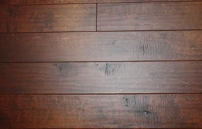 "Elk Mountain Birch Tobacco 3/8"" x 5"" Hand Scraped Engineered Click Lock Hardwood Flooring AF084 SAMPLE"