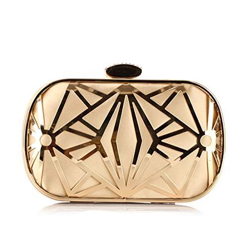 Black Bag Gold diamonds Party Bag Handbag Clutch JESSIEKERVIN Crossbody Purse Gold Evening v5RaOdvqw