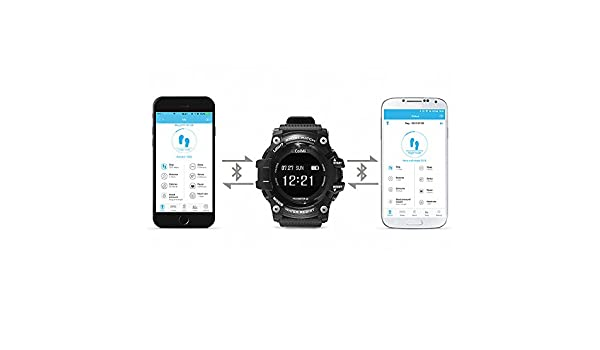 Amazon.com: T1 Smart Watch Waterproof IP68 Heart Rate Monitor Bluetooth 4.0 Outdoor Sport Clock for iOS Android Phone Smartwatch: Cell Phones & Accessories