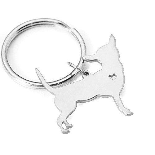 Chihuahua Kaychain,Heart Dog Kaychain, Pet Dog Keyring,Dog Kay Holder,Pet Kaychain (Chihuahua Keychain)