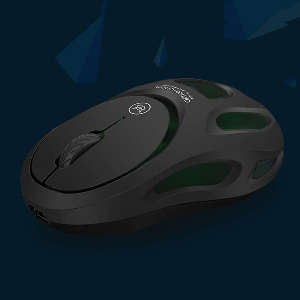 Petit sans Fil Souris, Souris sans Fil de Charge silencieuse silencieuse Ordinateur Portable Gaming Power Saving illimité Gaming Mouse/Noir, Blanc Muet (Color : White) Black