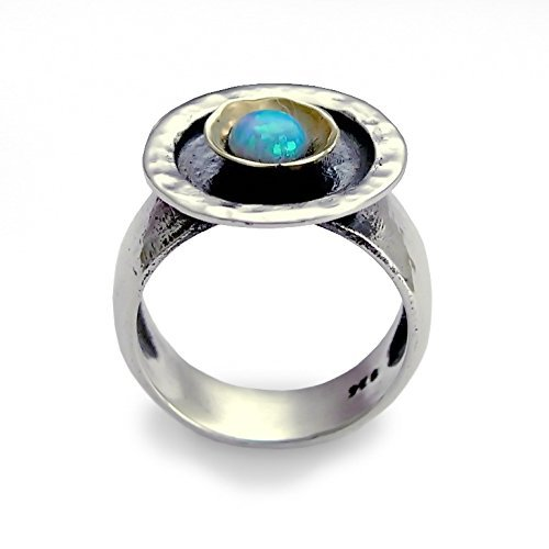 9k Yellow Gold Opal Ring - 4