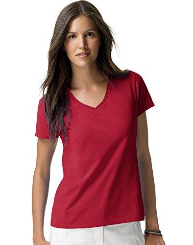 Red Vintage T-shirt (Hanes Women's Nano- V-Neck T-Shirt Vintage Red)