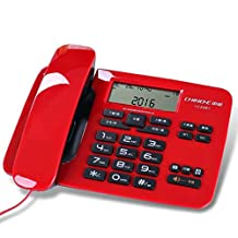 Landline Landline Cable Fixed Telephone Call Display landline Office Business Home Phone,Red