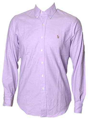 Polo+Ralph+Lauren+Mens+Stretch+Oxford+Slim+Fit+Sport+Shirt%2C+Purple+S