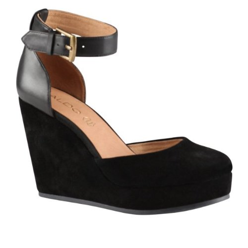 aldo trelli wedge shoes black suede 7 189 in the