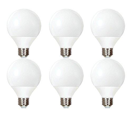 GE Lighting 89096 Energy Smart CFL Soft White 11-Watt (40-watt replacement) 500-Lumen G25 Light Bulb with Medium Base, 6-Bulbs